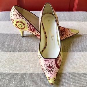 Bettye Muller Vero Cuoio Floral Heels